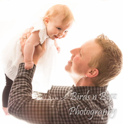 newborn portrait baby father