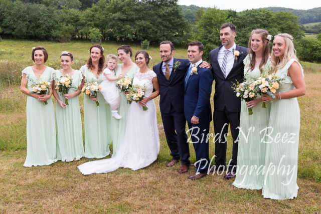 bridal party weddings outdoor wedding