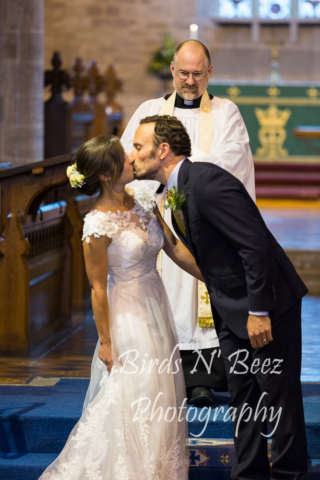first kiss wedding love